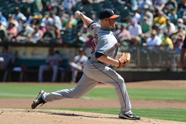September 7, 2013; Oakland, CA, USA; Houston Astros starting pitcher Brett Oberholtzer (65) delivers a pitch against the Oakland Athletics during the first inning at O.co Coliseum. Mandatory Credit: Kyle Terada-USA TODAY Sports