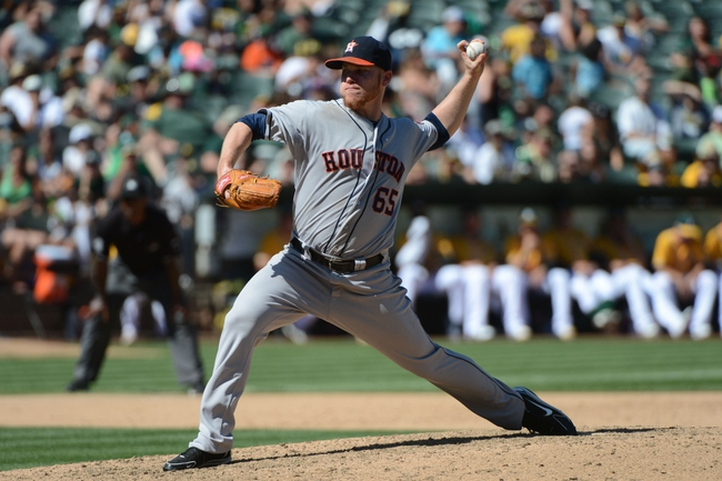 September 7, 2013; Oakland, CA, USA; Houston Astros starting pitcher Brett Oberholtzer (65) delivers a pitch against the Oakland Athletics during the sixth inning at O.co Coliseum. The Athletics defeated the Astros 2-1. Mandatory Credit: Kyle Terada-USA TODAY Sports