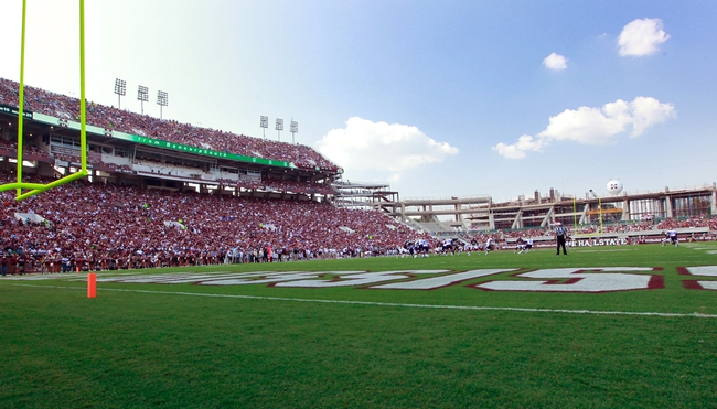 Sep 7, 2013; Starkville, MS, USA;  General view of Davis Wade Stadium along with construction in the north end zone during the game against the Alcorn State Braves.  The Bulldogs defeated the Braves 51-7. Mandatory Credit: Marvin Gentry-USA TODAY Sports