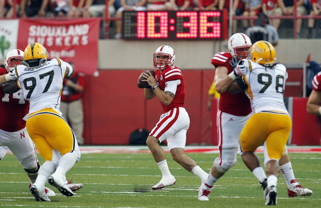 Sep 7, 2013; Lincoln, NE, USA; Nebraska Cornhuskers quarterback Taylor Martinez (3) looks to pass against Southern Mississippi Golden Eagles in the second quarter at Memorial Stadium. Mandatory Credit: Bruce Thorson-USA TODAY Sports