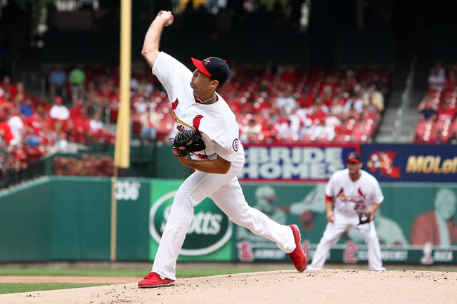 Sep 8, 2013; St. Louis, MO, USA; St. Louis Cardinals starting pitcher Michael Wacha (52) pitches in the first inning against the Pittsburgh Pirates at Busch Stadium. Mandatory Credit: Scott Kane-USA TODAY Sports