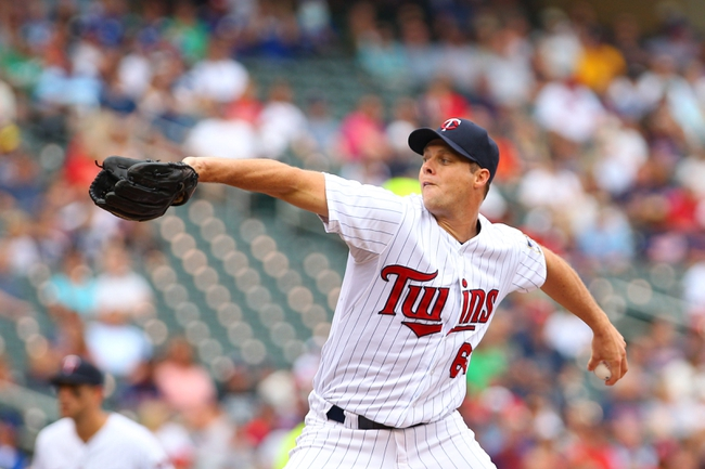 Sep 8, 2013; Minneapolis, MN, USA; Minnesota Twins pitcher Andrew Albers (63) pitching during the first inning against Toronto Blue Jays at Target Field.  Mandatory Credit: Brad Rempel-USA TODAY Sports