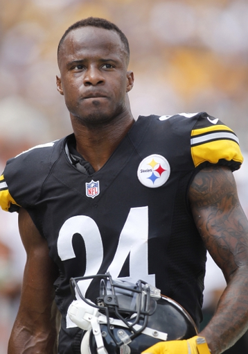 Sep 8, 2013; Pittsburgh, PA, USA; Pittsburgh Steelers cornerback Ike Taylor (24) looks on from the sidelines against the Tennessee Titans during the fourth quarter at Heinz Field. The Tennessee Titans won 16-9. Mandatory Credit: Charles LeClaire-USA TODAY Sports