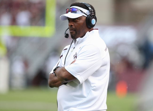 Sep 7, 2013; College Station, TX, USA; Texas A&M Aggies head coach Kevin Sumlin watches from the sideline during the first quarter against the Sam Houston State Bearkats at Kyle Field. Mandatory Credit: Troy Taormina-USA TODAY Sports