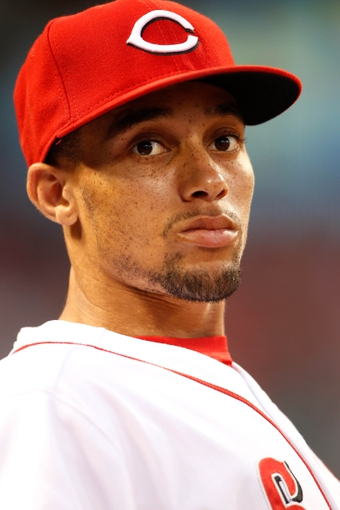 Sep 9, 2013; Cincinnati, OH, USA; Cincinnati Reds center fielder Billy Hamilton (6) sits in the dug out during the third inning against the Chicago Cubs at Great American Ball Park. Mandatory Credit: Frank Victores-USA TODAY Sports