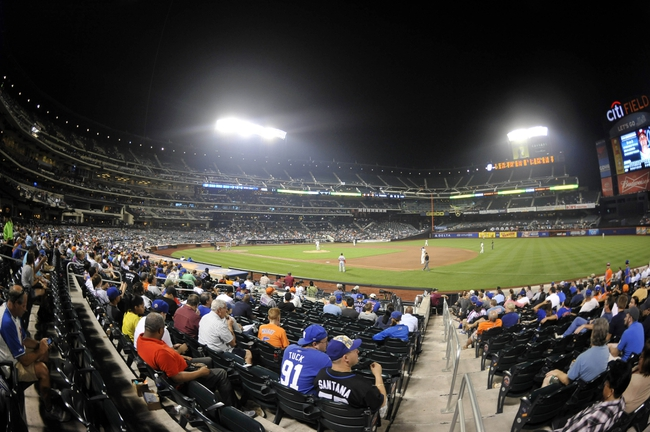 Sep 10, 2013; New York, NY, USA; A general view of game action between the New York Mets and Washington Nationals during the eighth inning at Citi Field. Mandatory Credit: Joe Camporeale-USA TODAY Sports