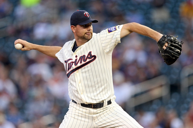 Sep 11, 2013; Minneapolis, MN, USA; Minnesota Twins starting pitcher Mike Pelfrey (37) delivers a pitch in the first inning against the Oakland Athletics at Target Field. Mandatory Credit: Jesse Johnson-USA TODAY Sports
