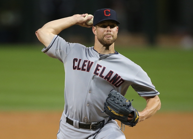 Sep 12, 2013; Chicago, IL, USA; Cleveland Indians starting pitcher Corey Kluber throws a pitch against the Chicago White Sox during the first inning at U.S Cellular Field. Mandatory Credit: Jerry Lai-USA TODAY Sports