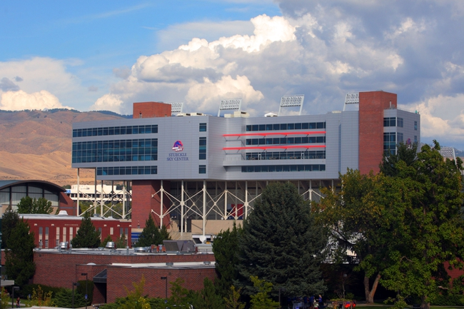 Sep 13, 2013; Boise, ID, USA; General view of the exterior of Bronco Stadium prior to the first half against the Air Force Falcons. Mandatory Credit: Brian Losness-USA TODAY Sports