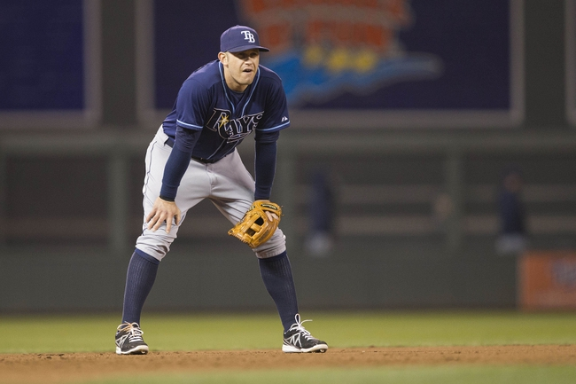 Sep 13, 2013; Minneapolis, MN, USA; Tampa Bay Rays third baseman Evan Longoria (3) looks on during the fifth inning against the Minnesota Twins at Target Field. Mandatory Credit: Jesse Johnson-USA TODAY Sports
