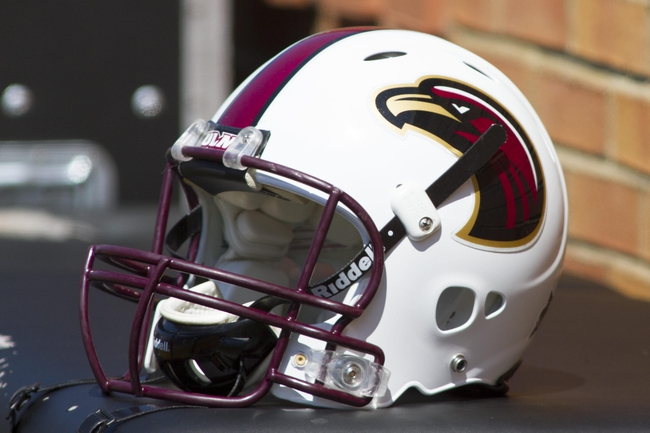 Sep 14, 2013; Winston-Salem, NC, USA; Louisiana Monroe Warhawks helmet lays on the sidelines during the game against the Wake Forest Demon Deacons at BB&T Field. Mandatory Credit: Jeremy Brevard-USA TODAY Sports