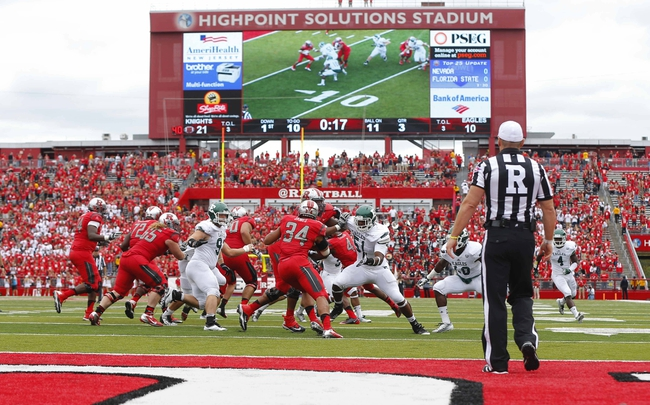 Sep 14, 2013; Piscataway, NJ, USA;  A general view during the third quarter of a game between the Rutgers Scarlet Knights and the Eastern Michigan Eagles at High Points Solutions Stadium. Rutgers won 28-10. Mandatory Credit: Jim O'Connor-USA TODAY Sports