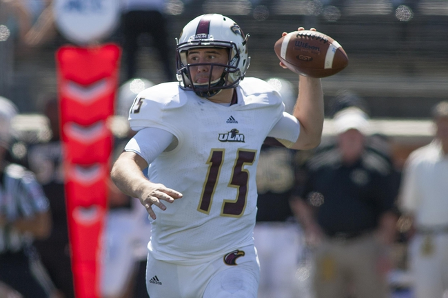 Sep 14, 2013; Winston-Salem, NC, USA; Louisiana Monroe Warhawks quarterback Kolton Browning (15) throws a pass during the third quarter against the Wake Forest Demon Deacons at BB&T Field. Louisiana Monroe Warhawks defeated the Wake Forest Demon Deacons 21-19. Mandatory Credit: Jeremy Brevard-USA TODAY Sports