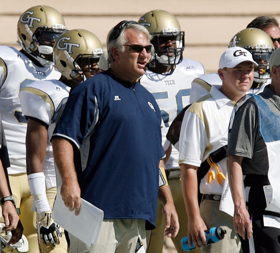 Sep 14, 2013; Durham, NC, USA; Georgia Tech Yellow Jackets defensive coordinator Ted Roof in their game against Duke at Wallace Wade Stadium. Mandatory Credit: Mark Dolejs-USA TODAY Sports