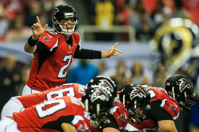 Sep 15, 2013; Atlanta, GA, USA; Atlanta Falcons quarterback Matt Ryan (2) calls an audible in the second half against the St. Louis Rams at the Georgia Dome. The Falcons won 31-24. Mandatory Credit: Daniel Shirey-USA TODAY Sports