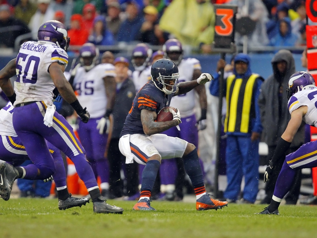 Sep 15, 2013; Chicago, IL, USA; Chicago Bears wide receiver Brandon Marshall (15) with the ball during the second half against the Minnesota Vikings at Soldier Field. Chicago won 31-30. Mandatory Credit: Dennis Wierzbicki-USA TODAY Sports