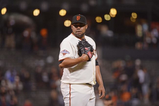 September 5, 2013; San Francisco, CA, USA; San Francisco Giants relief pitcher Jose Mijares (50) prepares to deliver a pitch during the ninth inning against the Arizona Diamondbacks at AT&T Park. The Diamondbacks defeated the Giants 4-2. Mandatory Credit: Kyle Terada-USA TODAY Sports