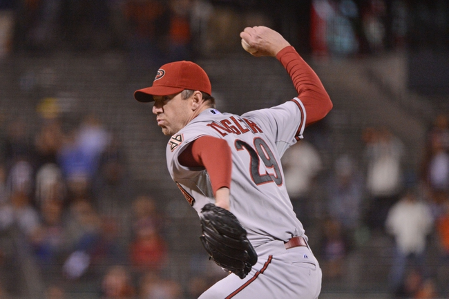 September 5, 2013; San Francisco, CA, USA; Arizona Diamondbacks relief pitcher Brad Ziegler (29) delivers a pitch during the ninth inning against the San Francisco Giants at AT&T Park. The Diamondbacks defeated the Giants 4-2. Mandatory Credit: Kyle Terada-USA TODAY Sports