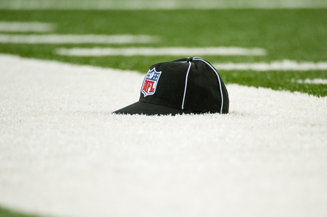 Sep 8, 2013; Detroit, MI, USA; A detail view of an officials hat during the game between the Detroit Lions and the Minnesota Vikings at Ford Field. Detroit won 34-24. Mandatory Credit: Tim Fuller-USA TODAY Sports