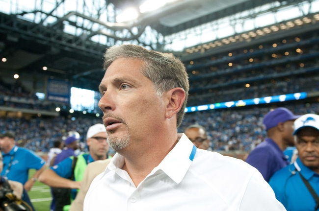 Sep 8, 2013; Detroit, MI, USA;  Detroit Lions head coach Jim Schwartz after the game against the Minnesota Vikings at Ford Field. Detroit won 34-24. Mandatory Credit: Tim Fuller-USA TODAY Sports