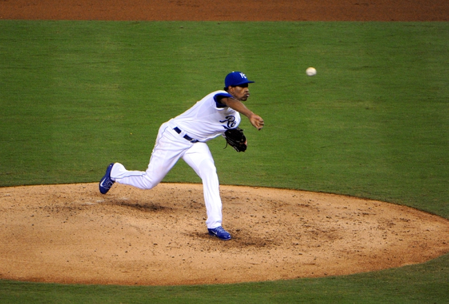 Sep 17, 2013; Kansas City, MO, USA; Kansas City Royals starting pitcher Yordano Ventura (30) delivers a pitch in the fifth inning against the Cleveland Indians at Kauffman Stadium. Mandatory Credit: John Rieger-USA TODAY Sports