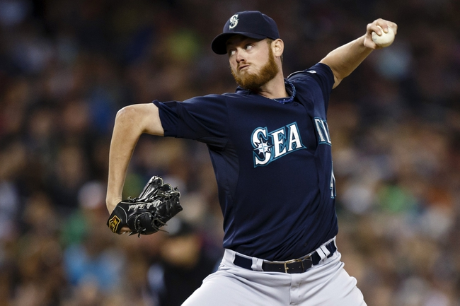 Sep 17, 2013; Detroit, MI, USA; Seattle Mariners relief pitcher Charlie Furbush (41) pitches in the seventh inning against the Detroit Tigers at Comerica Park. Mandatory Credit: Rick Osentoski-USA TODAY Sports
