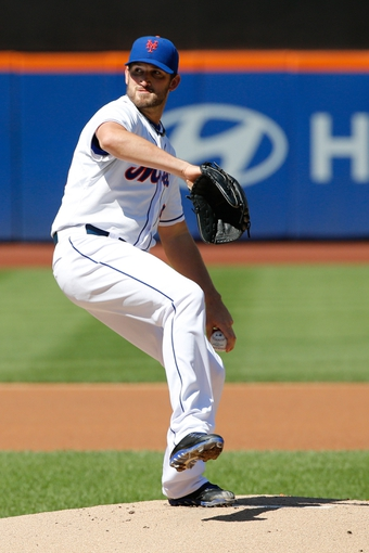 Sep 19, 2013; New York, NY, USA;  New York Mets starting pitcher Jonathon Niese (49) pitches during the first inning against the San Francisco Giants at Citi Field. Mandatory Credit: Anthony Gruppuso-USA TODAY Sports