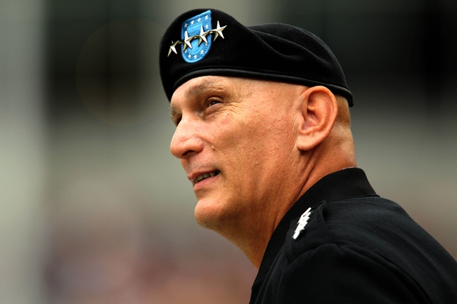 Sep 21, 2013; West Point, NY, USA; United States Army general and the 38th and current Chief of Staff of the Army Ray Odierno watches the game between Army and Wake Forest during the first half at Michie Stadium. Mandatory Credit: Danny Wild-USA TODAY Sports