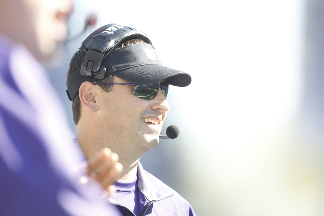 Sep 21, 2013; Seattle, WA, USA; Washington Huskies head coach Steve Sarkisian smiles after his team scores a touchdown against the Idaho State Bengals during the fourth quarter half at Husky Stadium. Washington defeated Idaho State, 56-0. Mandatory Credit: Joe Nicholson-USA TODAY Sports