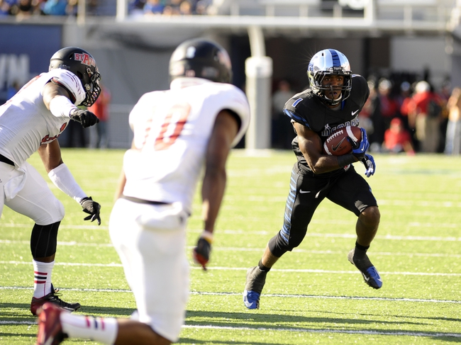 Sep 21, 2013; Memphis, TN, USA; Memphis Tigers running back Marquis Warford (1) carries the ball against Arkansas State Red Wolves at Liberty Bowl Memorial. Mandatory Credit: Justin Ford-USA TODAY Sports