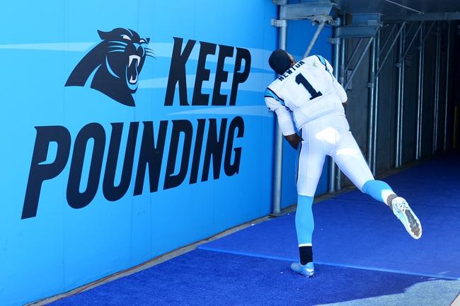 Sep 22, 2013; Charlotte, NC, USA; Carolina Panthers quarterback Cam Newton (1) after the game. The Carolina Panthers defeated the New York Giants 38-0 at Bank of America Stadium. Mandatory Credit: Bob Donnan-USA TODAY Sports