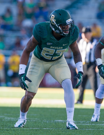Sep 21, 2013; Waco, TX, USA; Baylor Bears defensive back Kiante Griffin (23) during the game against the Louisiana Monroe Warhawks at Floyd Casey Stadium. The Bears defeated the Warhawks 70-7. Mandatory Credit: Jerome Miron-USA TODAY Sports