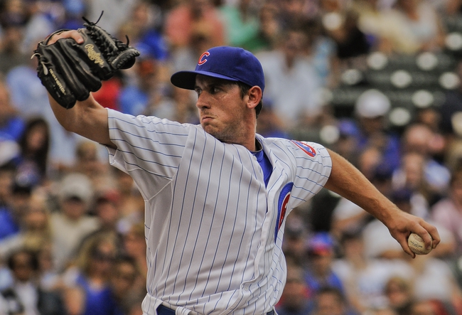 Sep 20, 2013; Chicago, IL, USA; Chicago Cubs pitcher Zac Rosscup in their game against the Atlanta Braves at Wrigley Field. Mandatory Credit: Matt Marton-USA TODAY Sports