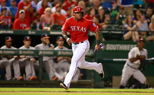 Sep 24, 2013; Arlington, TX, USA; Texas Rangers third baseman Adrian Beltre (29) scores a run in the fourth inning of the game against the Houston Astros at Rangers Ballpark in Arlington. Mandatory Credit: Tim Heitman-USA TODAY Sports