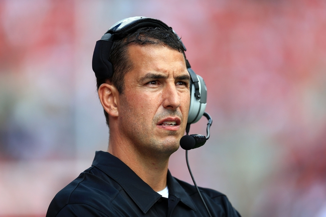 Sep 21, 2013; Columbus, OH, USA; Ohio State Buckeyes defensive coordinator Luke Fickell during the second quarter against the Florida A&M Rattlers at Ohio Stadium. Mandatory Credit: Andrew Weber-USA TODAY Sports