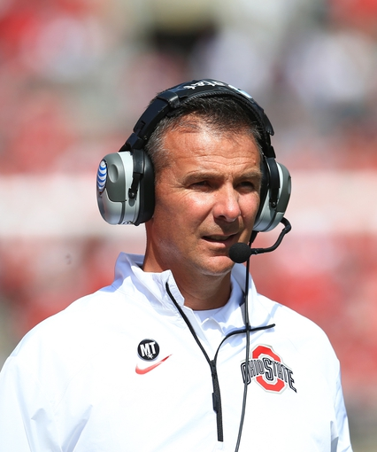 Sep 21, 2013; Columbus, OH, USA; Ohio State Buckeyes head coach Urban Meyer during the second quarter against the Florida A&M Rattlers at Ohio Stadium. Mandatory Credit: Andrew Weber-USA TODAY Sports