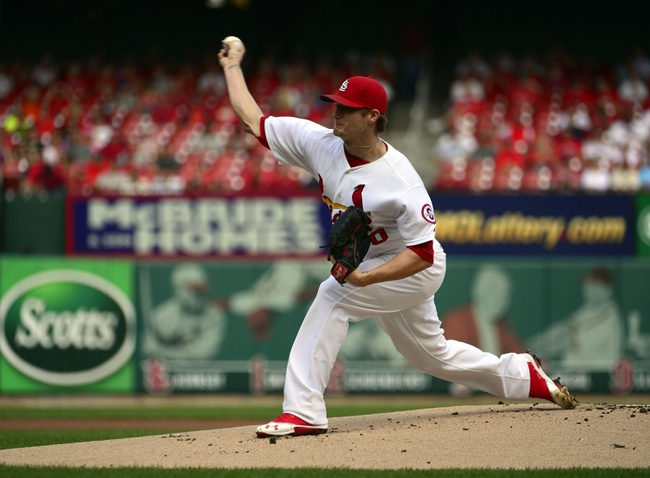 Sep 25, 2013; St. Louis, MO, USA; St. Louis Cardinals starting pitcher Shelby Miller (40) delivers a pitch against the Washington Nationals at Busch Stadium. Mandatory Credit: Scott Rovak-USA TODAY Sports