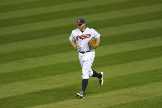 Sep 25, 2013; Cleveland, OH, USA; Cleveland Indians relief pitcher Justin Masterson runs in from the bullpen in the ninth inning against the Chicago White Sox at Progressive Field. Mandatory Credit: David Richard-USA TODAY Sports