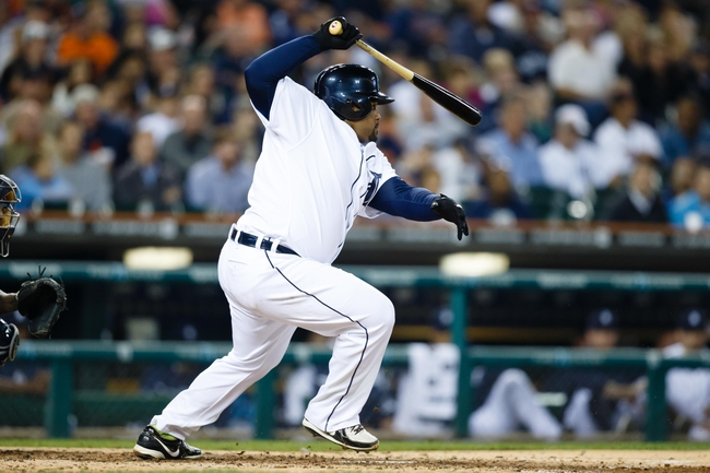 Sep 18, 2013; Detroit, MI, USA; Detroit Tigers first baseman Prince Fielder (28) at bat against the Seattle Mariners at Comerica Park. Mandatory Credit: Rick Osentoski-USA TODAY Sports
