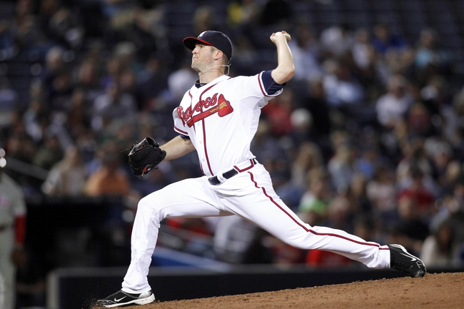 Sep 26, 2013; Atlanta, GA, USA; Atlanta Braves relief pitcher Alex Wood (58) throws a pitch against the Philadelphia Phillies in the seventh inning at Turner Field. Mandatory Credit: Brett Davis-USA TODAY Sports
