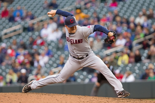 Sep 28, 2013; Minneapolis, MN, USA; Cleveland Indians pitcher Joe Smith (38) delivers a pitch in the ninth inning against the Minnesota Twins at Target Field. Mandatory Credit: Brad Rempel-USA TODAY Sports