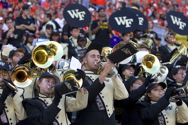 Sep 28, 2013; Clemson, SC, USA; Wake Forest Demon Deacons band during the fourth quarter against the Clemson Tigers at Clemson Memorial Stadium. Tigers won 56-7. Mandatory Credit: Joshua S. Kelly-USA TODAY Sports