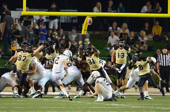 Sep 28, 2013; Nashville, TN, USA; Alabama-Birmingham Blazers kicker Ty Long (2) kicks a field goal against the Vanderbilt Commodores during the first half at Vanderbilt Stadium. Mandatory Credit: Don McPeak-USA TODAY Sports