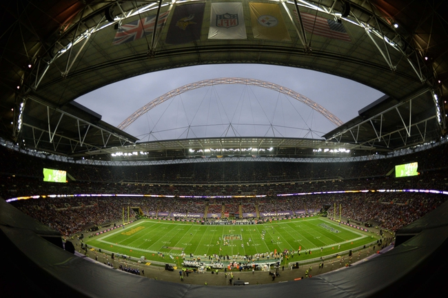 Sep 29, 2013; London, UNITED KINGDOM; A general view during the NFL International Series game between the Pittsburgh Steelers and the Minnesota Vikings at Wembley Stadium. Mandatory Credit: Bob Martin-USA TODAY Sports