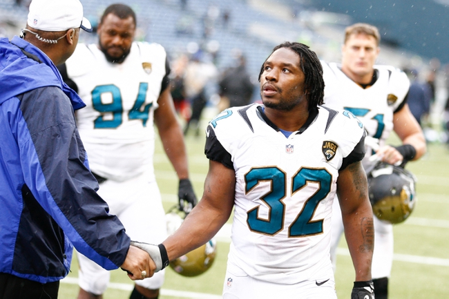 Sep 22, 2013; Seattle, WA, USA; Jacksonville Jaguars running back Maurice Jones-Drew (32) walks off the field following a game against the Seattle Seahawks at CenturyLink Field. Mandatory Credit: Joe Nicholson-USA TODAY Sports