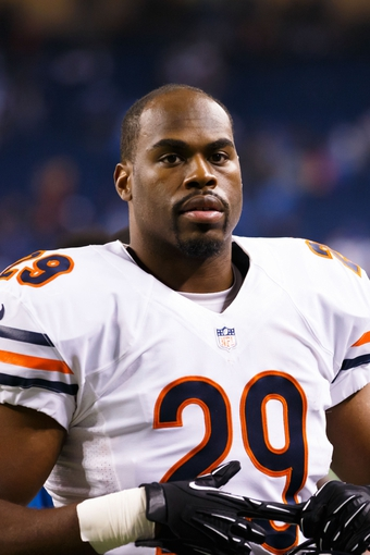 Sep 29, 2013; Detroit, MI, USA; Chicago Bears running back Michael Bush (29) after the game against the Detroit Lions at Ford Field. Mandatory Credit: Rick Osentoski-USA TODAY Sports