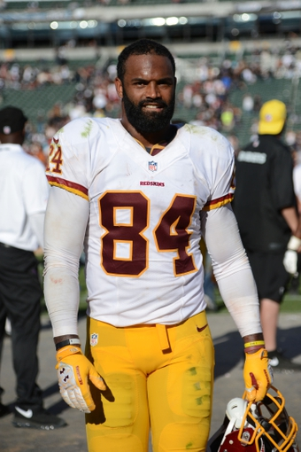 September 29, 2013; Oakland, CA, USA; Washington Redskins tight end Niles Paul (84) walks off the field after the game against the Oakland Raiders at O.co Coliseum. The Redskins defeated the Raiders 24-14. Mandatory Credit: Kyle Terada-USA TODAY Sports