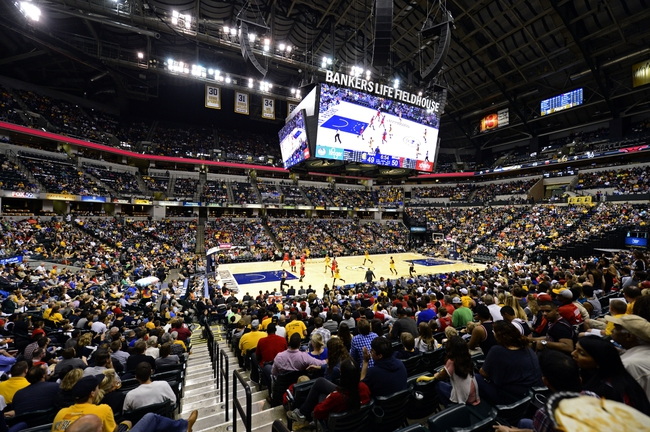 Oct 5, 2013; Indianapolis, IN, USA; Attendance was 15,273 for this the preseason game of the Indiana Pacers vs the Chicago Bulls at Bankers life Fieldhouse. Final Score Pacers 76 and Bulls 82 Mandatory Credit: Marc Lebryk-USA TODAY Sports
