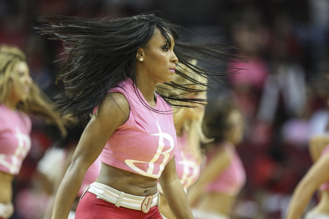 Oct 5, 2013; Houston, TX, USA; Houston Rockets dancers perform during the fourth quarter against the New Orleans Pelicans at Toyota Center. The Pelicans defeated the Rockets 116-115. Mandatory Credit: Troy Taormina-USA TODAY Sports