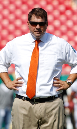 Sep 28, 2013; Tampa, FL, USA; Miami Hurricanes head coach Al Golden against the South Florida Bulls at Raymond James Stadium. Mandatory Credit: Kim Klement-USA TODAY Sports